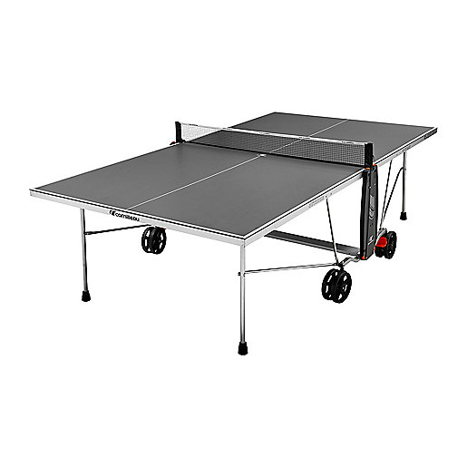 Table de tennis de table outdoor s drive gris cornilleau for Table de ping pong exterieur intersport