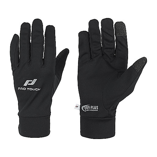 Gants de running Magic Tip noir 211934  PRO TOUCH