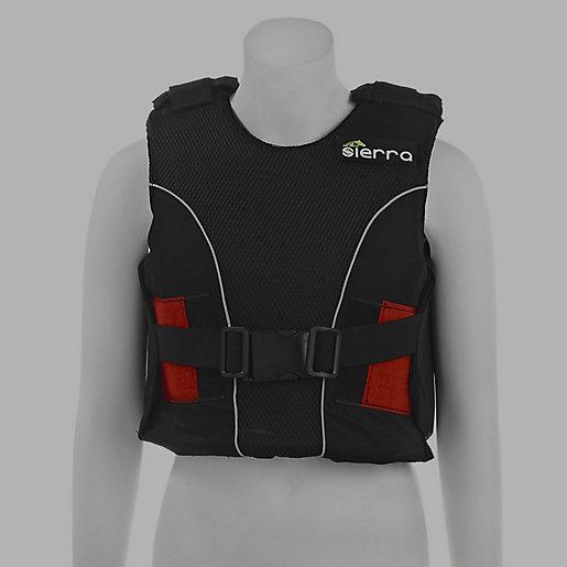 gilet protection equitation body protector noir sierra. Black Bedroom Furniture Sets. Home Design Ideas