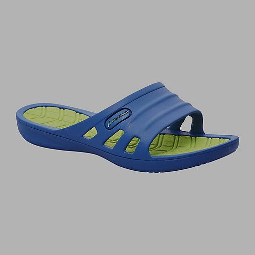Sandale piscine enfant slide shui rose vert pro touch for Sandale piscine intersport