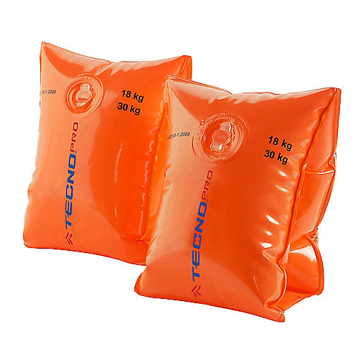 Brassards De Natation 18-30Kg ORANGE 2500005 TECNO PRO