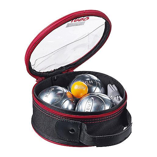 boule de petanque 3 boules de competition + accessoires incolore ...