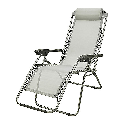 fauteuil de relaxation camping en toile gris mc kinley intersport. Black Bedroom Furniture Sets. Home Design Ideas