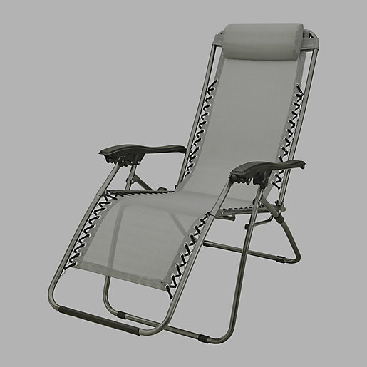 chaise pliante fauteuil de relaxation gris mc kinley intersport. Black Bedroom Furniture Sets. Home Design Ideas
