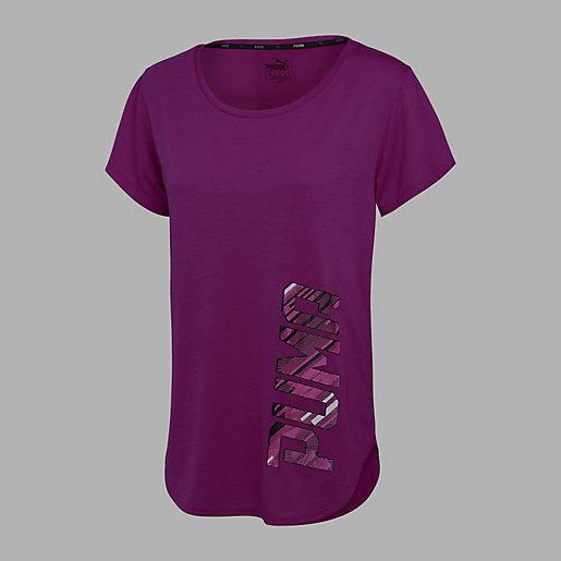 tee shirt fitness femme training tee puma intersport. Black Bedroom Furniture Sets. Home Design Ideas
