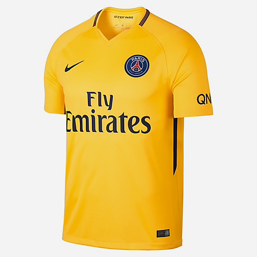 maillot football homme ext rieur psg 2017 2018 nike intersport. Black Bedroom Furniture Sets. Home Design Ideas