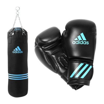 bleu kit de boxe adidas. Black Bedroom Furniture Sets. Home Design Ideas