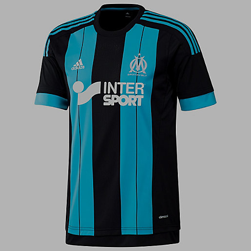 Maillot enfant om a jsy y adidas intersport for Maillot exterieur om