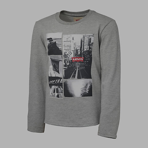 tee shirt gar on photos gris chine levis kid intersport. Black Bedroom Furniture Sets. Home Design Ideas