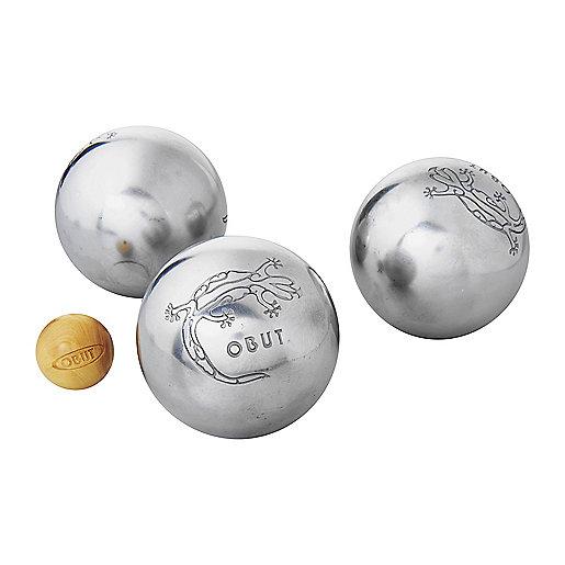 Boules de p tanque triplette loisirs incolore obut for Boule de petanque prix