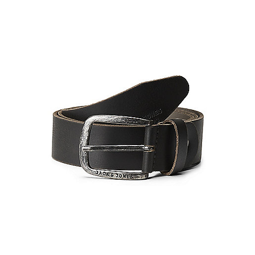 Ceinture JJIPAUL JJLEATHER BELT NOOS Noir 121112A JACK JONES 0d6ea83202e