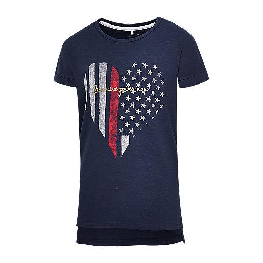 43c12062fa1d9 T-shirt manches courtes fille Mc Flag Multicolore 1316317 NAME-IT