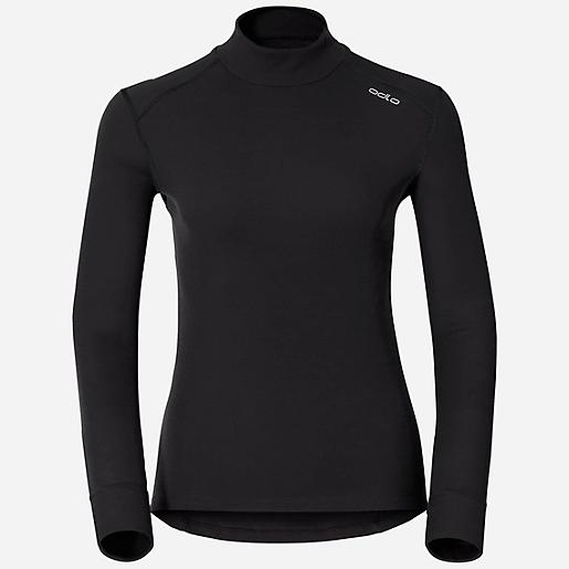 8754d86699 T-shirt Col Roulé Manches Longues Femme Originals Warm NOIR ODLO ...