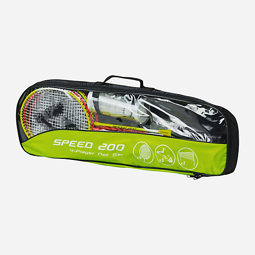 da36582343066 Set De Badminton Speed 200 4 Player Net Set JAUNE TECNO PRO | INTERSPORT