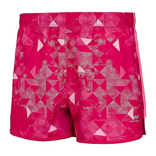 Short de running femme Isabel Rouge-Multicolore 197496  PRO TOUCH