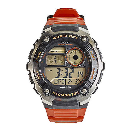 Montre digitale Ae-2100W-1Avef Orange 2100W4A CASIO