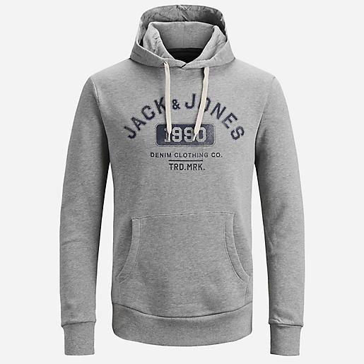 d2caac808af8 Sweatshirt À Capuche Homme JJEJEANS SWEAT HOOD NOOS JACK JONES ...