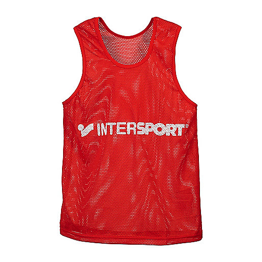 Chasuble d'entraînement rouge-blanc 2180045 INTERSPORT