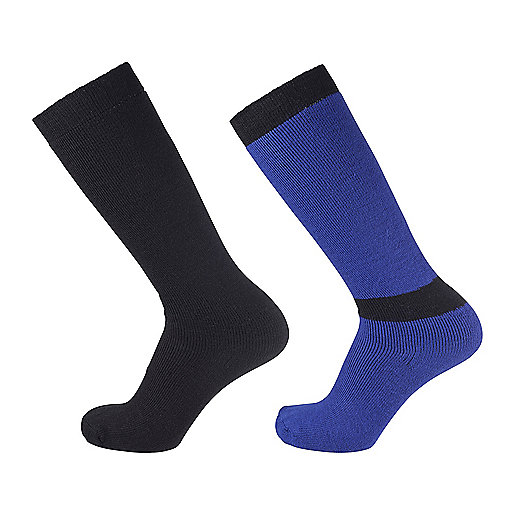Chaussettes de ski adulte Simple Duo Noir-Bleu 2209026 ETIREL