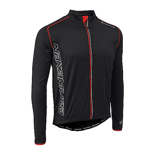 Maillot cycliste manches longues Sportline Noir 2248118 NAKAMURA