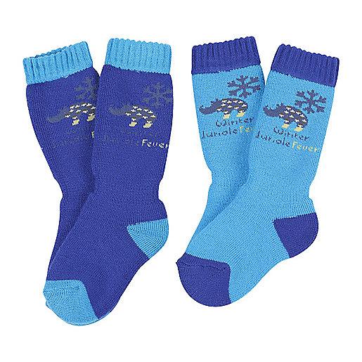 b1f2726dd5af Lot de 2 paires de chaussettes de ski enfant Fantaisie Lapon 2267771  POLOCHON