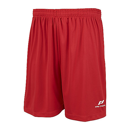 Short de football homme Basic rouge 2268811 PRO TOUCH