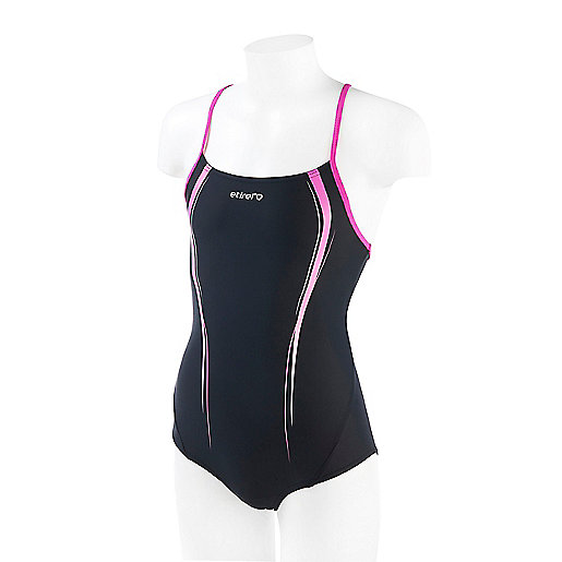 official photos 8f1df a1831 Maillot de bain 1 pièce fille Silena Noir 2300011 ETIREL