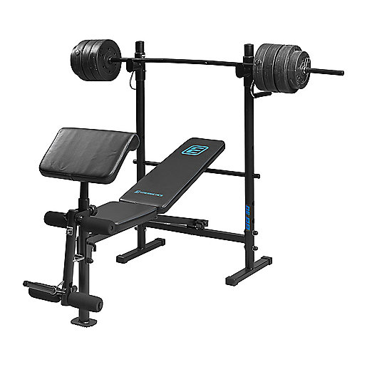 Banc de musculation Barbell Bench 30 Noir 240677  ENERGETICS