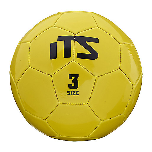 Ballon de football Goal jaune-noir 245538  ITS