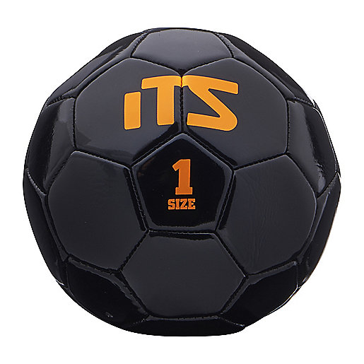 Mini-ballon de football Minigoal noir-orange 245539  ITS