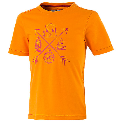 T-shirt manches courtes enfant Zaba Orange 273558  MC KINLEY