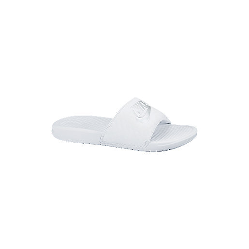 Claquettes femme Benassi Just Do It Blanc 343881  NIKE