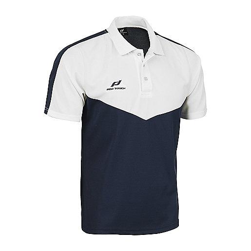 0e3a006081f Polo d entraîneur football manches courtes homme Core Bleu-Blanc 5000971  PRO TOUCH