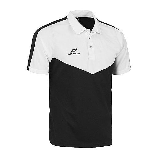 29f2b40143 Polo d'entraîneur football manches courtes homme Core Noir-Blanc 5000971  PRO TOUCH