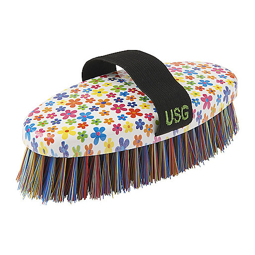 Etrille pour cheval Flower Multicolore 5001862 HAPPY DAY