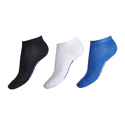 huge discount 67852 f6ea8 Lot de 3 paires de chaussettes invisibles enfant New Gaby Noir-Blanc  5002004 ENERGETICS
