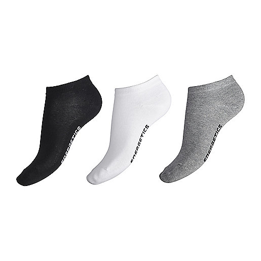 Lot de 3 paires de chaussettes invisibles enfant New Gaby blanc 5002004 ENERGETICS