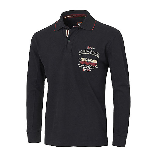 Polo manches longues homme Tradition Noir 5003117 LORDS OF RUGBY