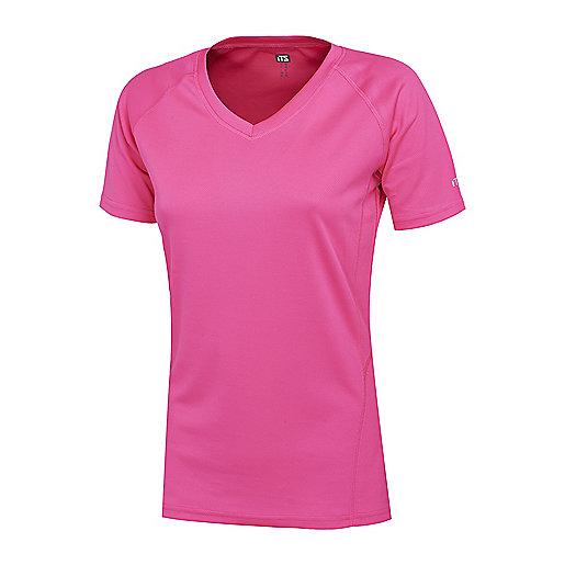 T-shirt de running manches courtes femme Natalia V Rose 5003341 ITS f9a8d6dc461