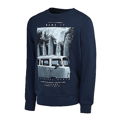 Sweatshirt garçon Nitpolapain Bleu 5003660 NAME-IT