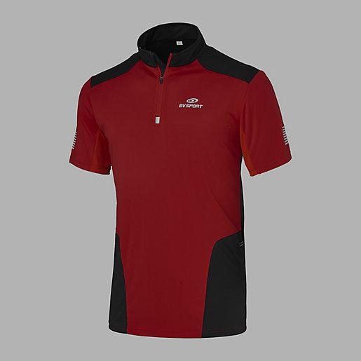nouveau concept 001f1 9530c Tee-shirt running homme Demi Zip BV SPORT