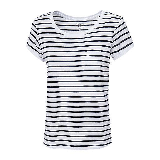 3d5747d0f5edd T-shirt manches courtes femme Nana Rayé Multicolore 5007296 FIREFLY
