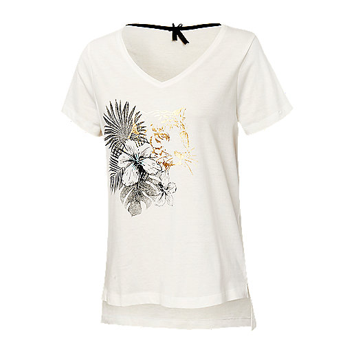 b0caf5f862f T-shirt manches courtes femme Umaya Multicolore 5007302 FIREFLY