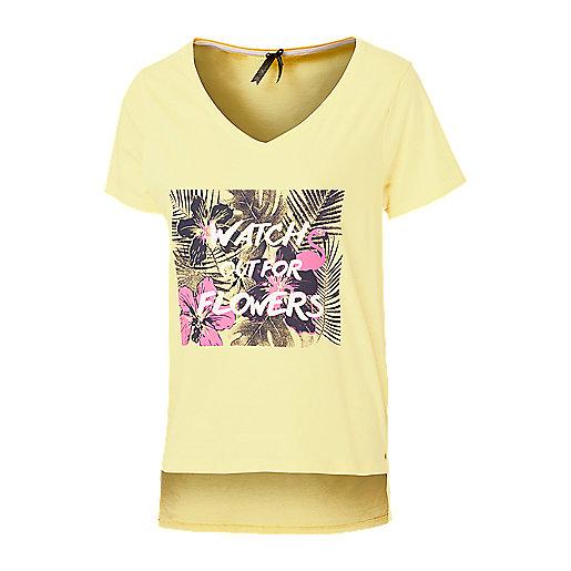 b3113ce147938 T-shirt manches courtes femme Umaya 5007302 FIREFLY