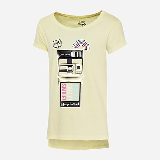 50772df9d1ab8 T-shirt Manches Courtes Fille Zenia JAUNE FIREFLY
