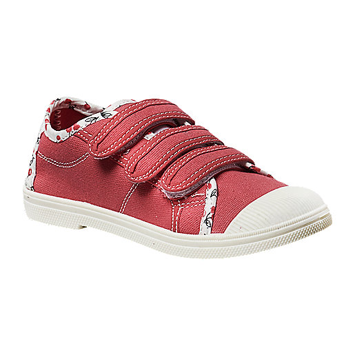 977d14b519cff Chaussures en toile enfant Rose Velcro Multicolore 5007343 VICTORIA COUTURE