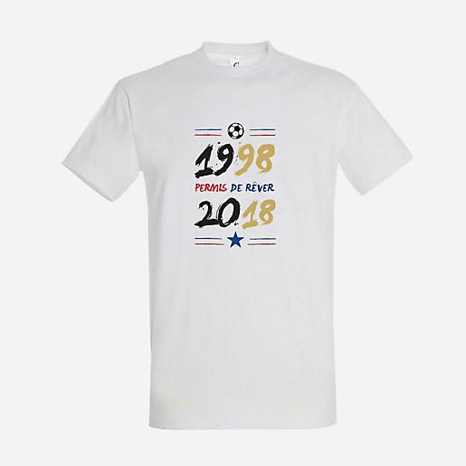 T-shirt Manches Courtes Homme Rêvons Ensemble 2018 BLANC SANSMARQUE ... 618ffc5e2fe