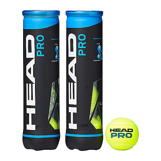 Lot de 2 tubes de 4 balles de tennis Pro multicolore 571721  HEAD
