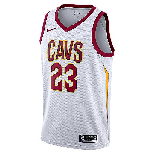 a922ff45535745 Maillot de basketball homme Cleveland Cavaliers LeBron James Association  Edition Swingman Jersey Home Multicolore 864409 NIKE