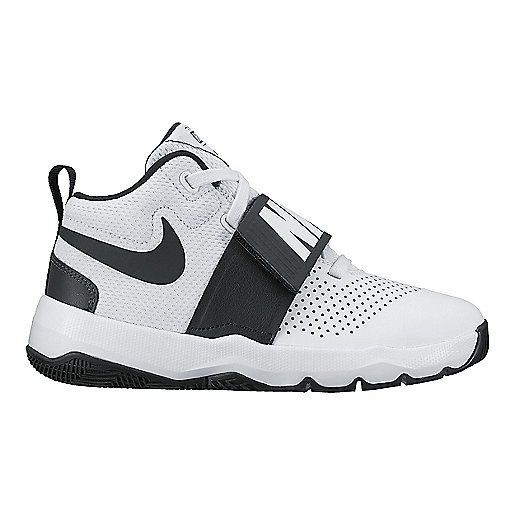5afbc9ebaf75 Chaussures de basketball enfant Team Hustle 8 Blanc 881941 NIKE
